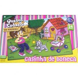 Quebra Cabeça Casinha de Boneca em Madei