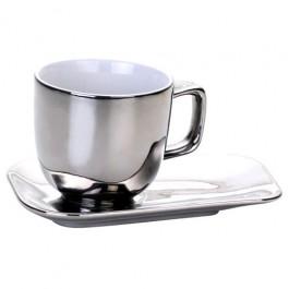Xícara de Chá Cromada Prata