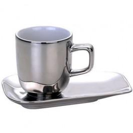 Xícara de Café Cromada Prata