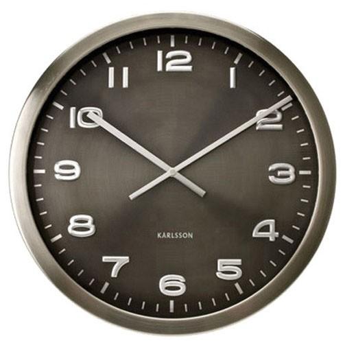 Sua loja de a a z rel gio de parede a o escovado maxie - Relojes de pared grandes modernos ...