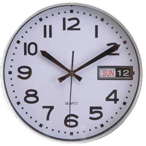 c618475f29e Sua Loja de A a Z - Relógio de Parede com Data e Dia Branco ...