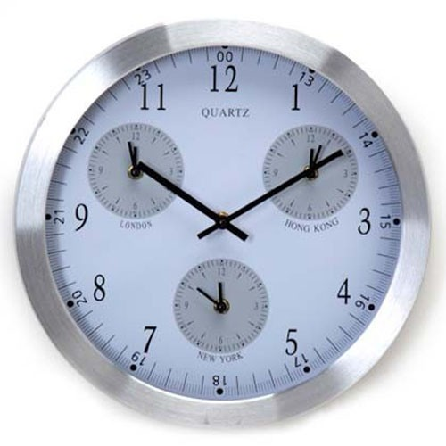 9ec97e332ec Sua Loja de A a Z - Relógio de Parede Fusos Horários e Mapa Mundi ...