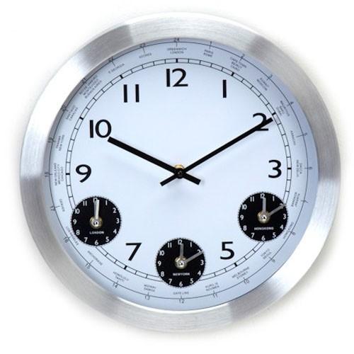 71bc1978006 Sua Loja de A a Z - Relógio de Parede Alumínio Fusos Horários ...