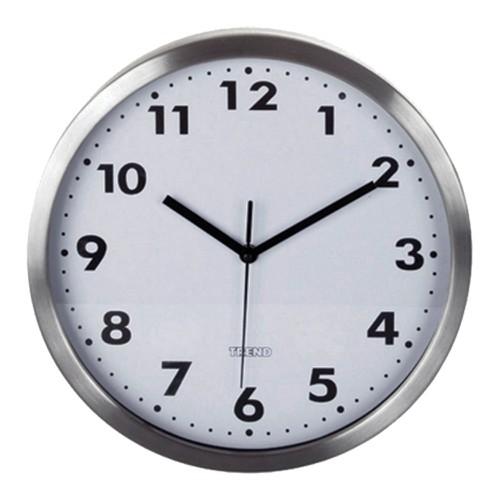 3787550964e Sua Loja de A a Z - Relógio de Parede Trend Aço Escovado Roman 30 ...