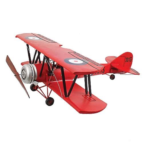 Miniatura de Avião Biplano Vermelho