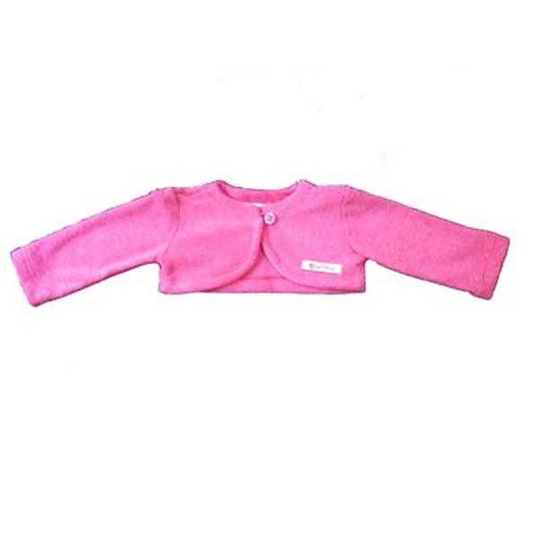 Bolero em Plush Rosa para Menina