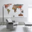 Adesivo Decorativo de Parede Mapa Mundi