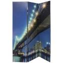 Biombo com Imagem da Ponte do Brooklyn e Luzes Leds