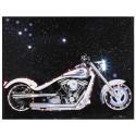 Quadro Moto Harley Davidson Prata com Leds