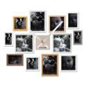 Relógio de Parede com 12 Porta Retratos Cores