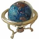 Globo Azul com Pedras e Duas Rotações