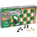 Jogo de Xadrez e Damas Plástico