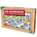 Jogo Os Números com Dominó em Madeira