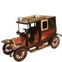 Miniatura de Calhambeque Vermelho com Bagageiro no Teto