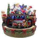 Miniatura de Papai Noel com Trem Luz e Som