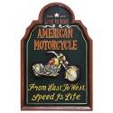 Placa de Parede American Motorcycle
