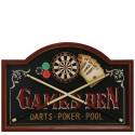 Placa de Parede Snooker Baralho e Roleta