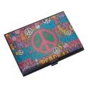 Porta Cartão Paz em Alumínio
