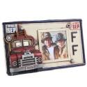 Porta Retrato Placa de Caminhão de Bombeiro