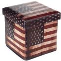 Puff com Estampa da Bandeira dos EUA