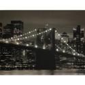 Quadro Ponte do Brooklyn em Nova York com Leds