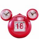 Relógio de Mesa Mix Calendário Vermelho