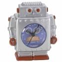 Relógio de Mesa Robô Tommy Silver