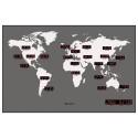 Relógio de Parede Led Mapa Mundi 220 Volts