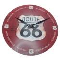 Relógio de Parede em Vidro Route 66