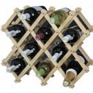 Adega de Madeira Dobrável 10 garrafas