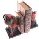 Apoio para Livros Cachorro Xadrez