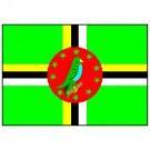 Bandeira da Dominica 1.60 Mt.