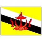 Bandeira de Brunei 1.60 Mt.
