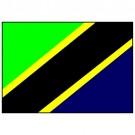 Bandeira da Tanzânia 1.60 Mt.