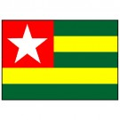Bandeira do Togo 1.60 Mt.