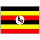 Bandeira de Uganda 1.60 Mt.