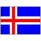 Bandeira da Islândia 1.60 Mt.