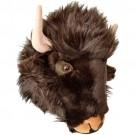 Cabeça de Búfalo em Pelúcia para Parede