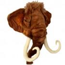 Cabeça de Mamute em Pelúcia para Parede
