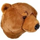 Cabeça de Urso em Pelúcia para Parede