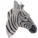 Cabeça de Zebra em Resina