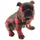 Cachorro Buldog em Resina
