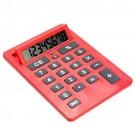 Calculadora A4 Gigante com 8 Digitos Cor Vermelha