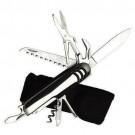 Canivete Aço Escovado com 10 Funcões com Capa