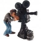 Caricatura de Cinegrafista Filmando