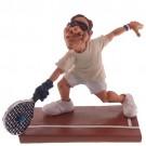 Caricatura de Tenista em Resina