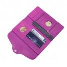 Carteira e Porta Passaporte de Silicone Rosa