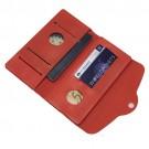 Carteira e Porta Passaporte de Silicone Vermelho