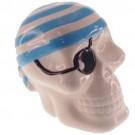 Cofre Caveira Pirata Azul