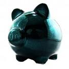 Cofre Porco em Porcelana Verde